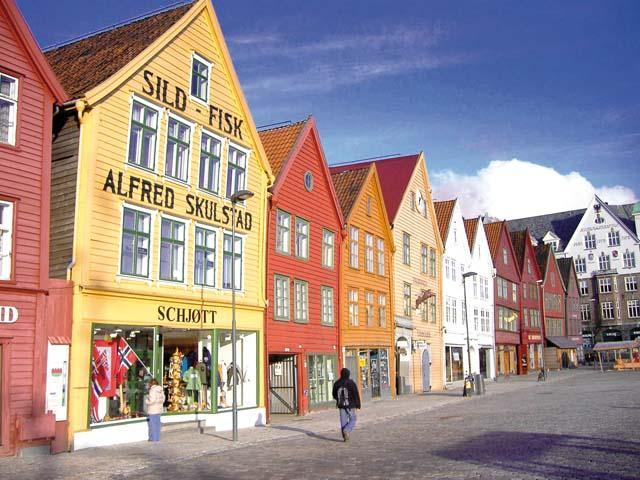 Noorwegen - Stavanger - straatbeeld