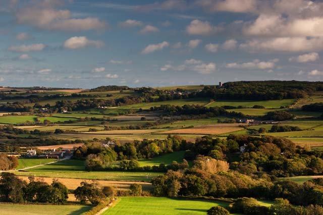 Groot-Brittannië - Zuid - Engeland - Purbeck - Corfe Castle omgeving
