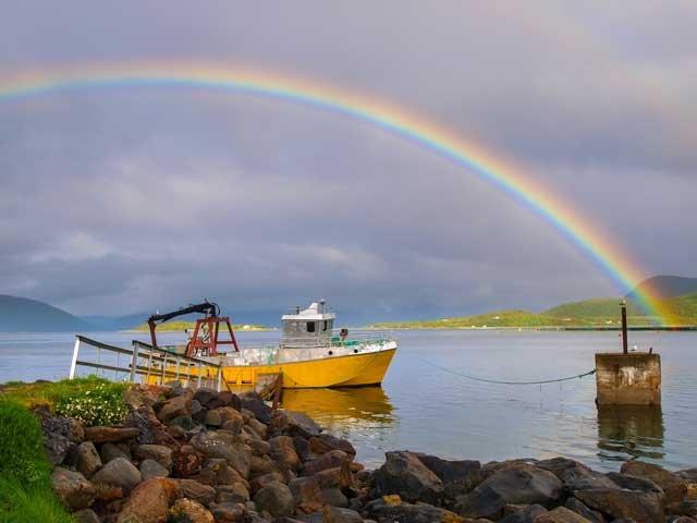 Noorwegen - Vesteralen - regenboog