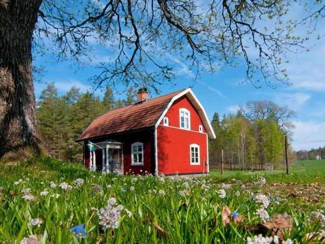 Zweden - typisch Zweeds houten huis