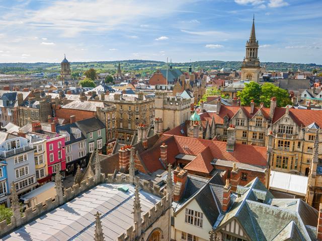 Groot Brittanië - Engeland - Oxford - uitzicht over de stad