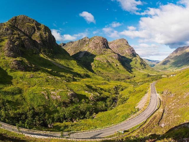 Groot - Brittanië - Schotland -Tranendal Glencoe en de 'Three Sisters'