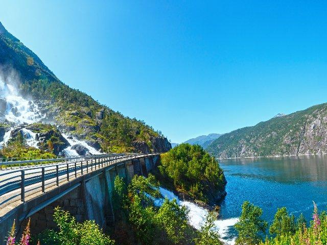 Noorwegen - Langfossen waterval