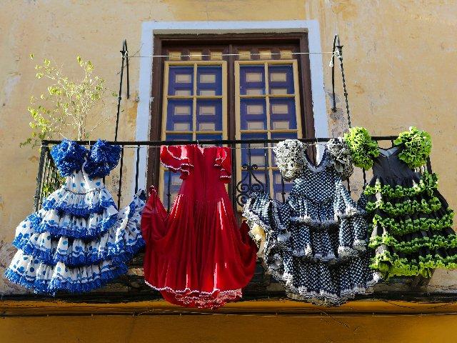 Spanje - Traditionele Flamenco jurken