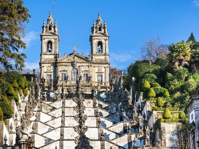 Portugal - Braga - Santuário de Bom Jesus do Monte kerk
