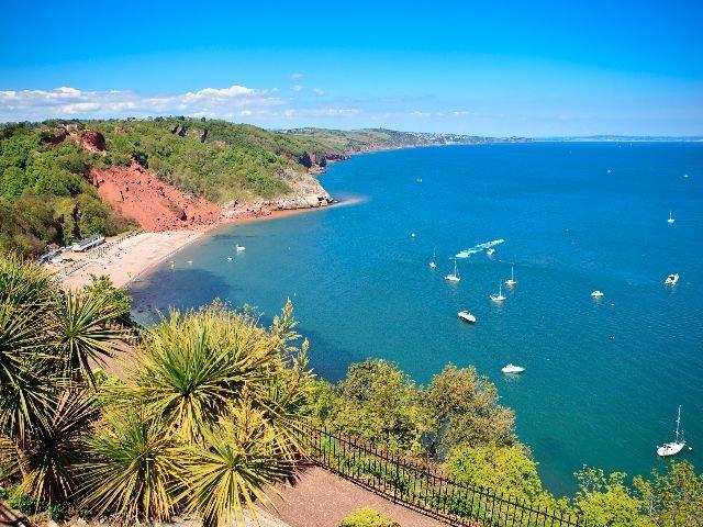 Engeland - Torquay - Babbacombe Beach nabij Torquay