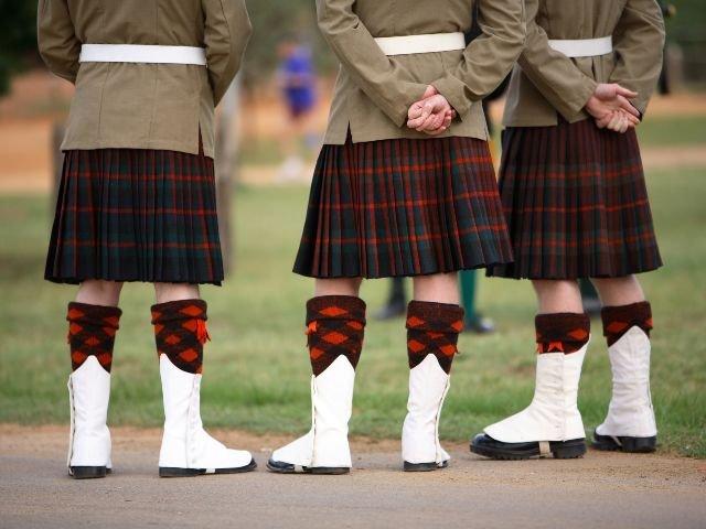 Groot Brittannië - Schotland - mannen in Kilts