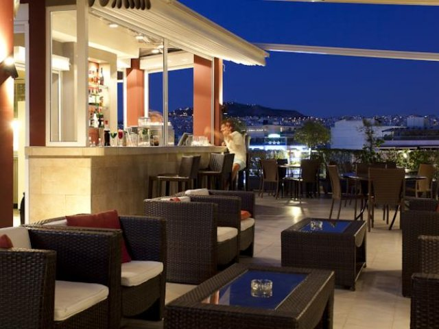 Griekenland - Athene - Hotel Crystal City - terras