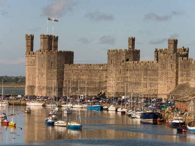 Groot Brittannië - Wales - Caernarfon - Caernarfon Castle