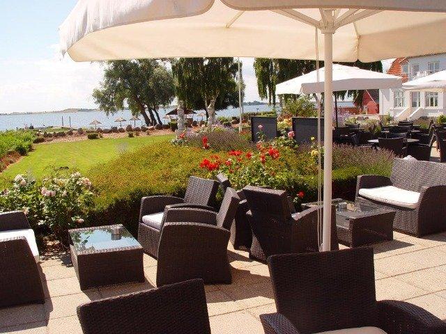 Funen - Hotel Faaborg Fjord **** - terras