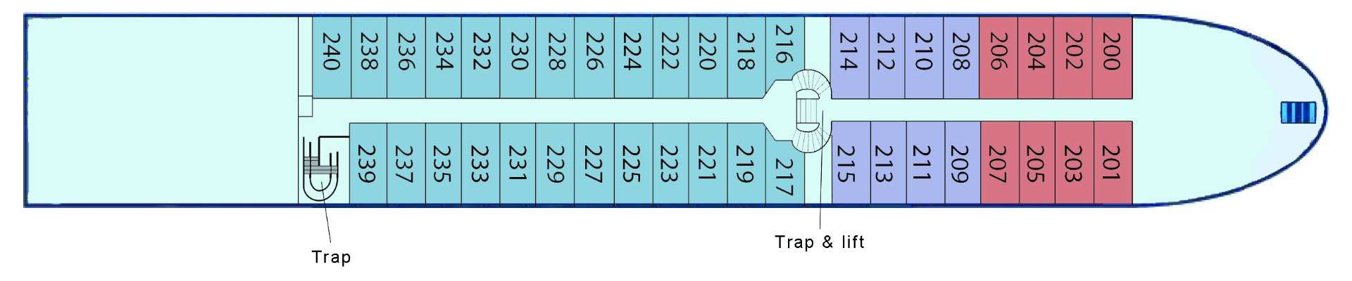 Schip MS Verdi **** Deluxe - plattegrond hoofddek