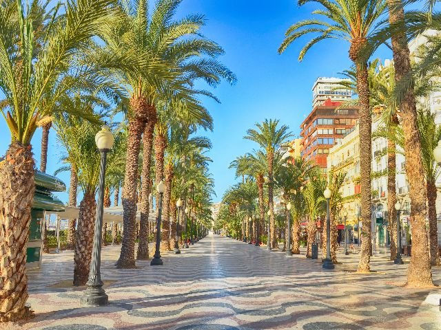 Alicante straatbeeld
