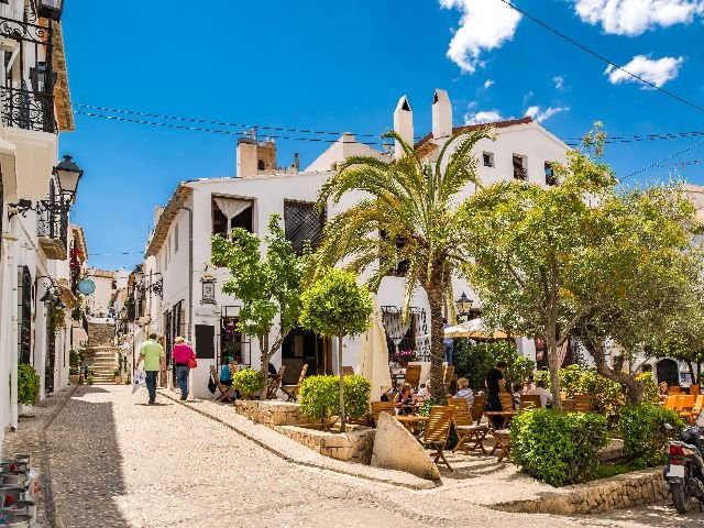 Altea straatbeeld