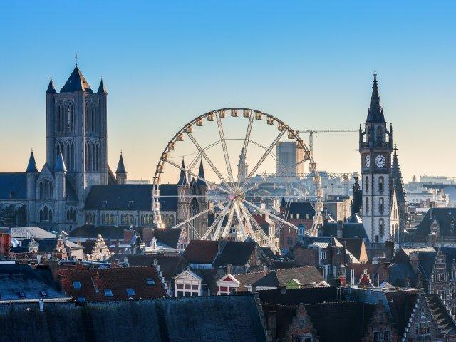 Gent - Aanzicht centrum Gent