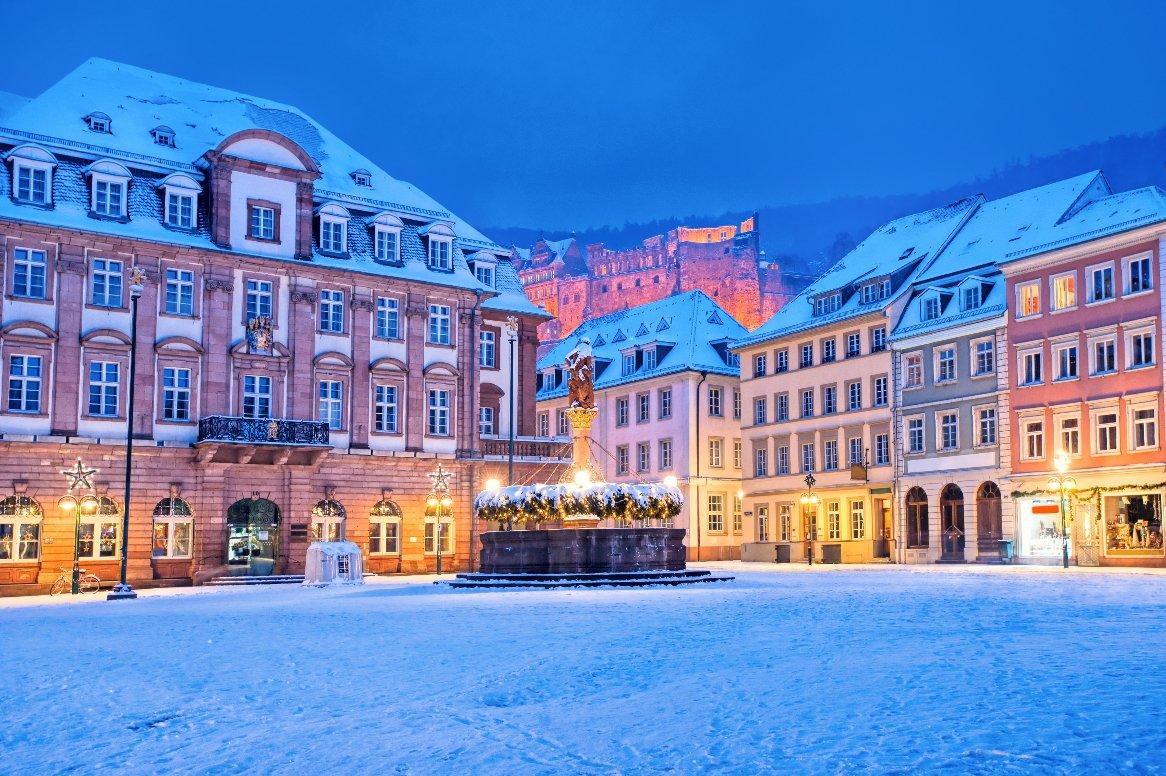 Heidelberg - Historische binnenstad in sneeuw