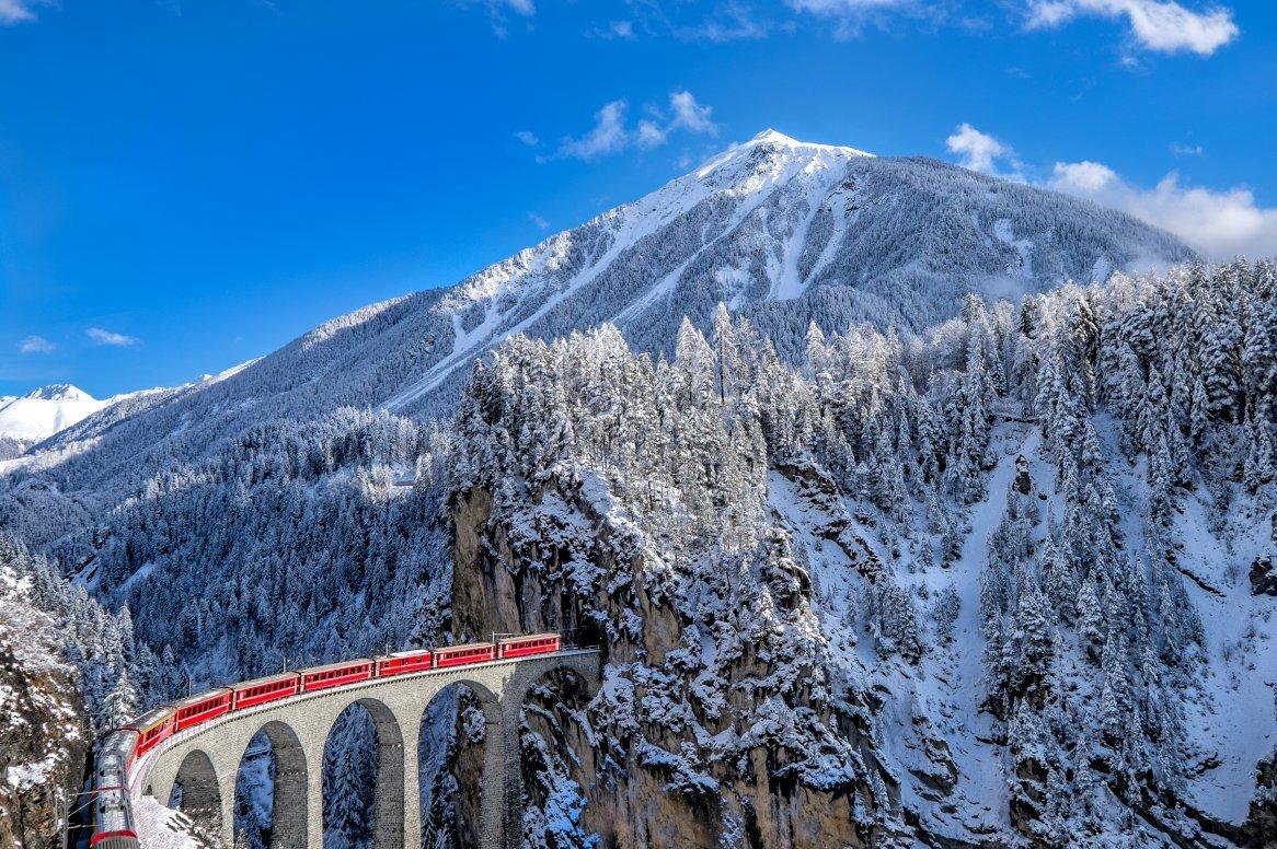 Zwitserland - Landwasser Viaduct Glacier Express