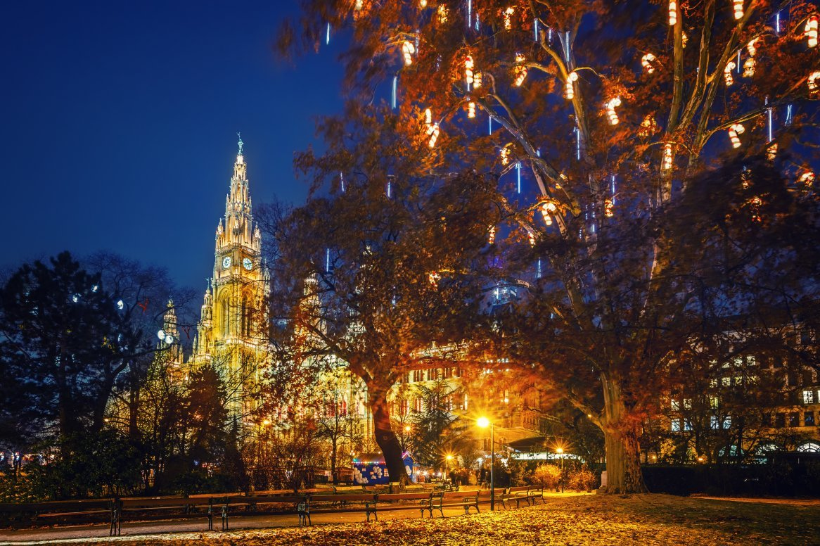 Wenen - Kerstmarkt Wiener Rathaus
