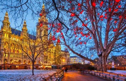 Wenen - Kerstmarkt stadhuis