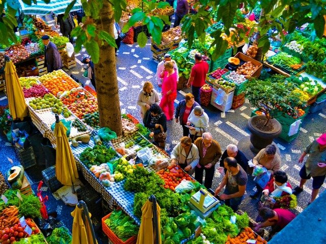 Madeira, markt in Funchal