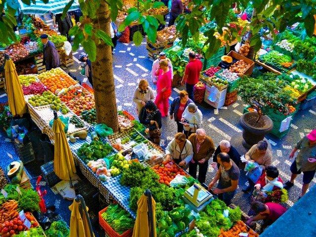 Madeira, markt in Funchal