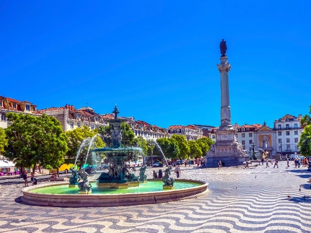 Portugal - Rossio Square in Lissabon
