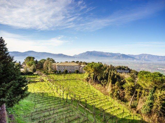 Italië - Het benedictijnenklooster in Montecassino