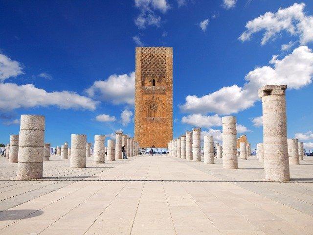 Marokko - Hassan toren in Rabat