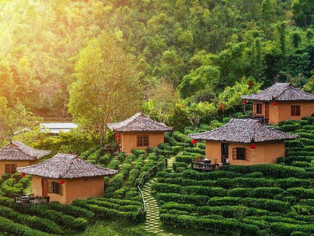 Thailand - Huisjes op een plantage in Mae Hong Son