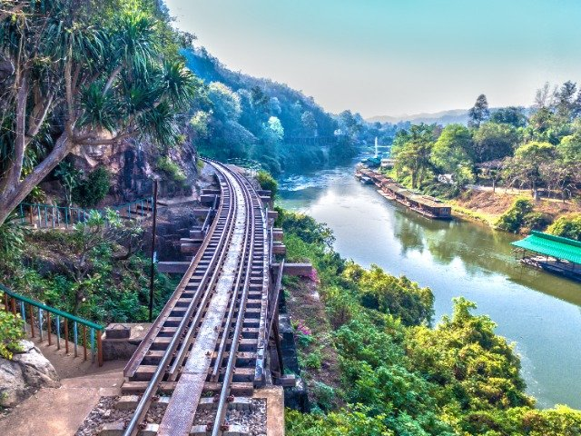 Thailand - Spoorweg langs River Kwai