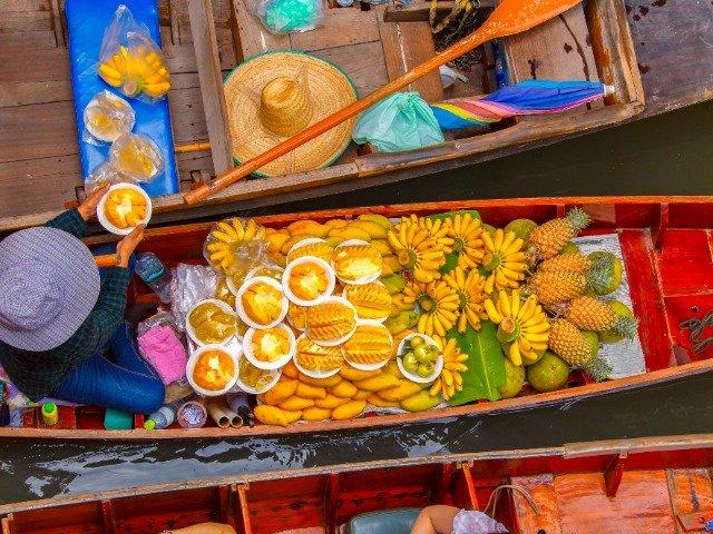 Thailand - Floating Market in Kanchanaburi