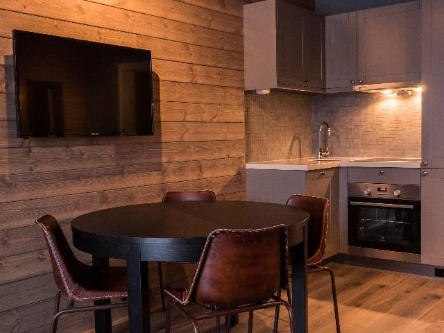 Hemsedal - Skogstad Hotel - familiekamer keuken