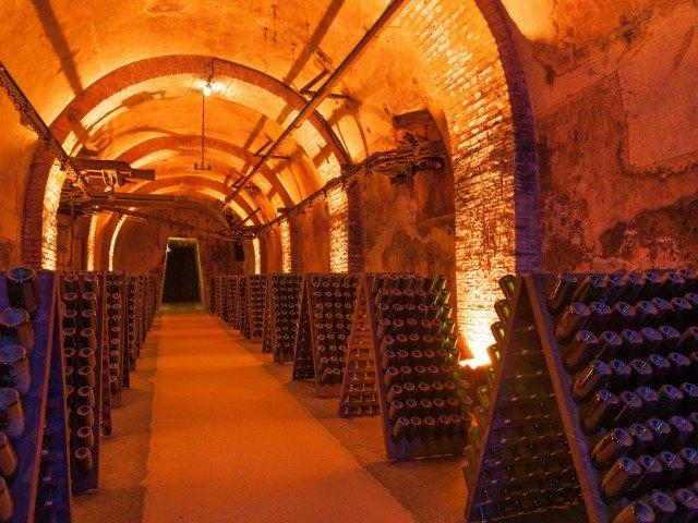 Frankrijk - Een champagnekelder in Reims