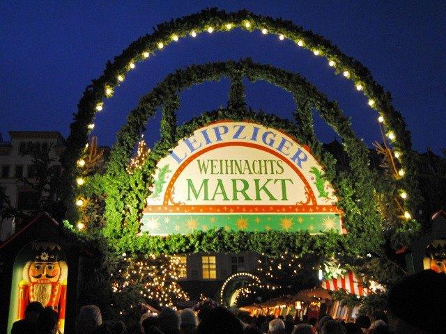 Duitsland - Kerstmarkt in Leipzig