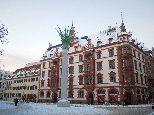 Duitsland - Nikolaikirchhof in Leipzig