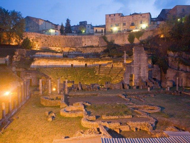 Italië - Volterra, Romeins theater