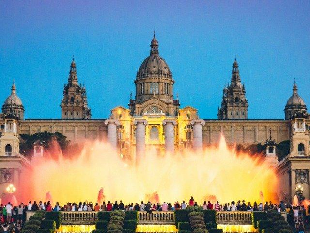 Spanje - Placa de Espanya in Barcelona