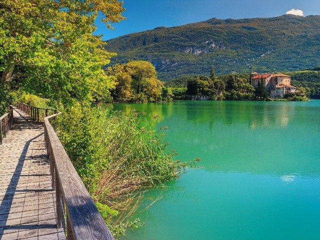 Italië - Meer van Toblino