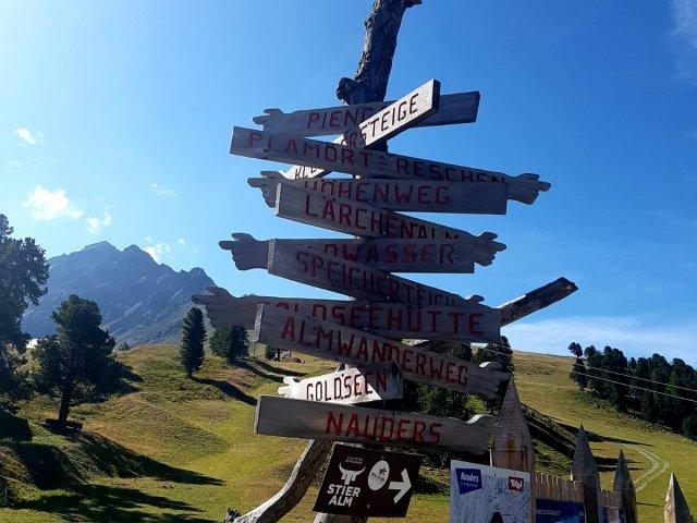Oostenrijk - Nauders - plaatsnamen