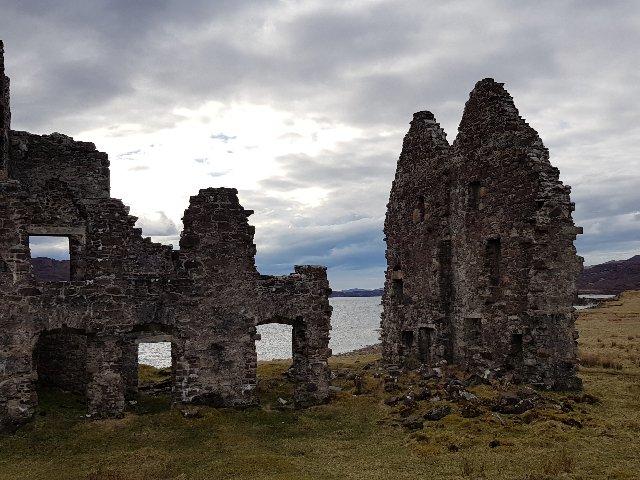 Schotland - Ruïne bij Cape Wrath