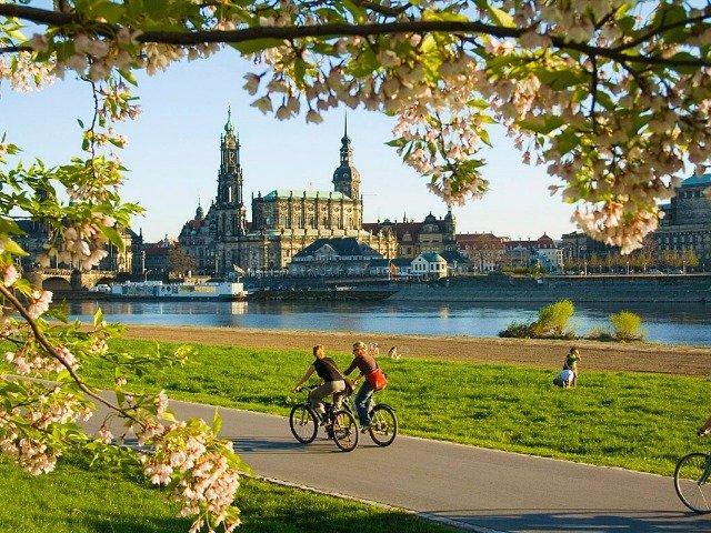 Duitsland - Dresden - fietspad