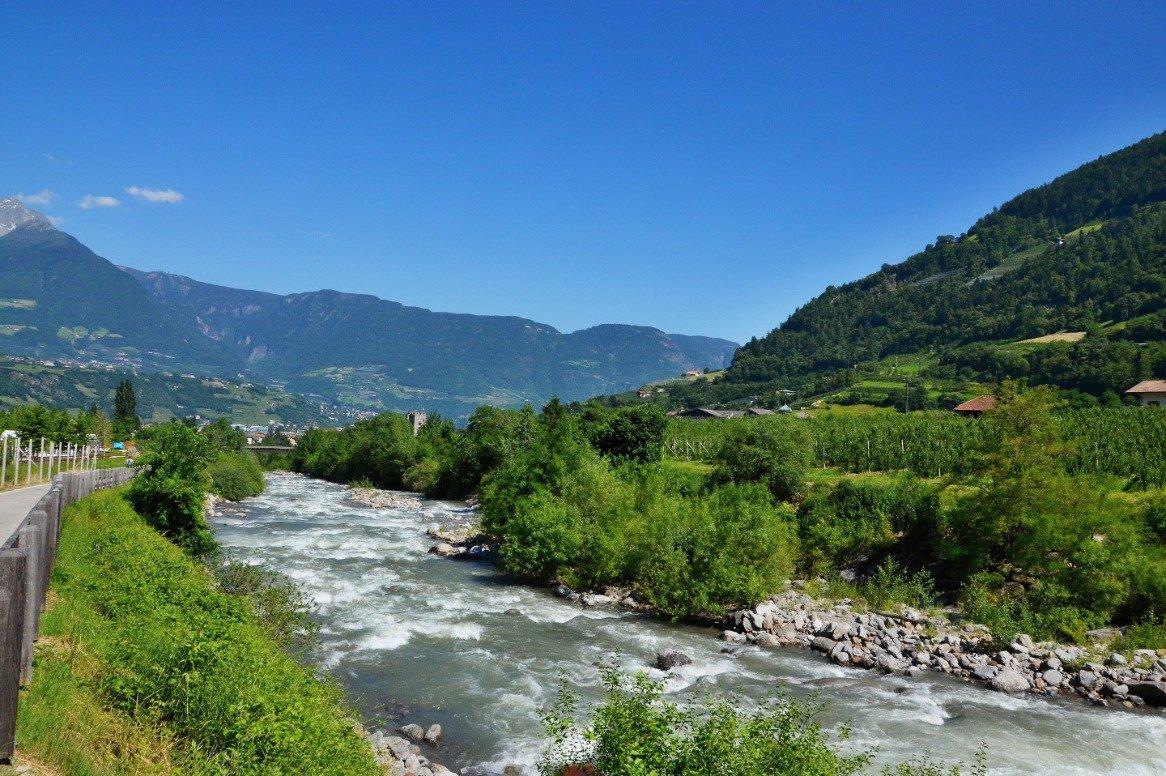 Italië - Merano - rivier Adige