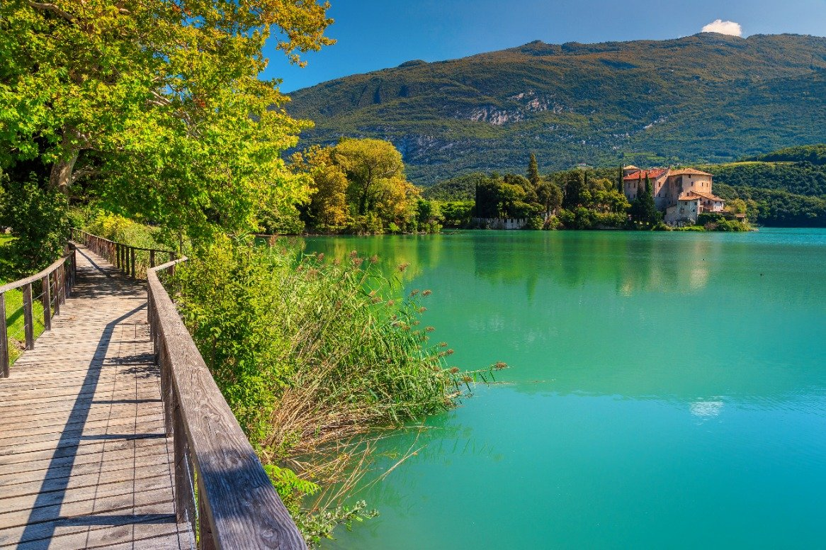 Italië = Toblino meer