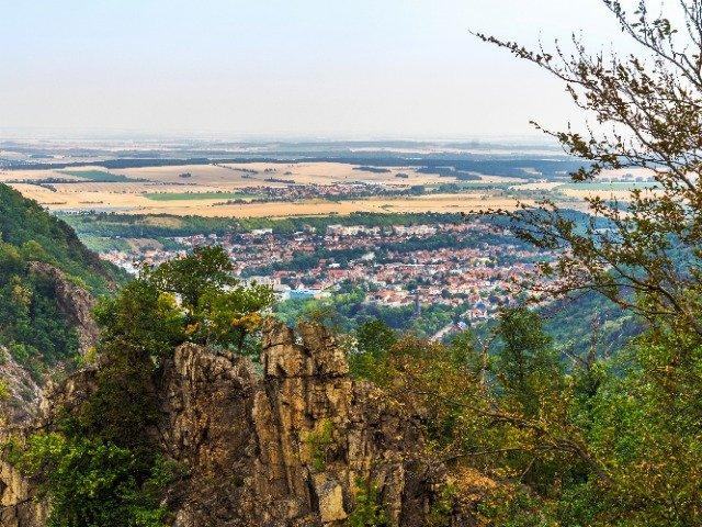 Duitsland - Harz - uitzicht over Thale
