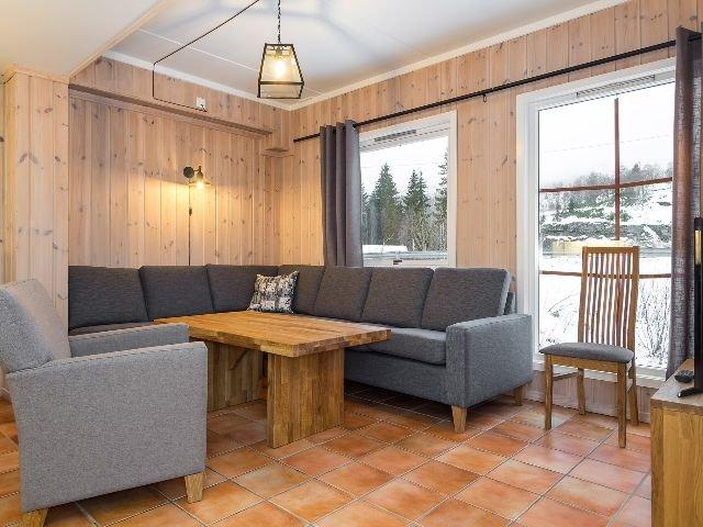 Hemsedal - Mølla Brua appartementen - woonkamer