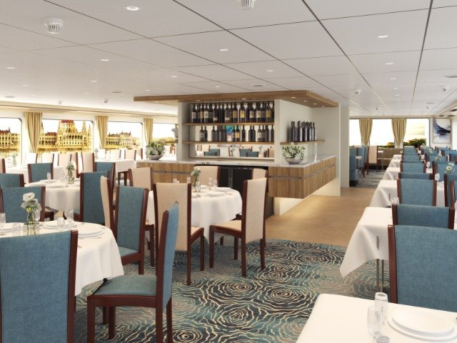 Schip MS Crucebelle **** - restaurant