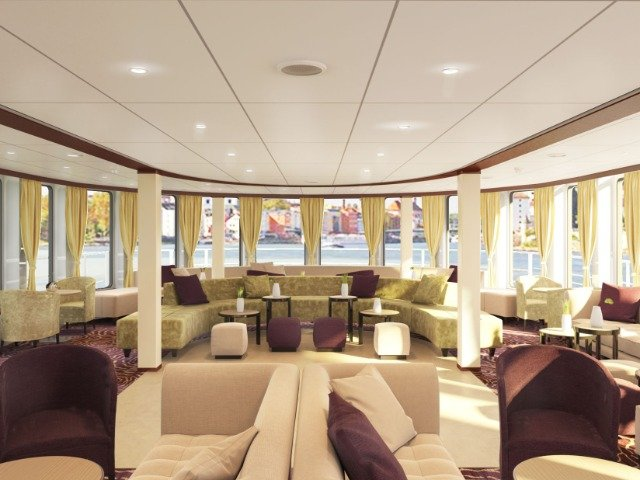Schip MS Crucebelle **** - lounge