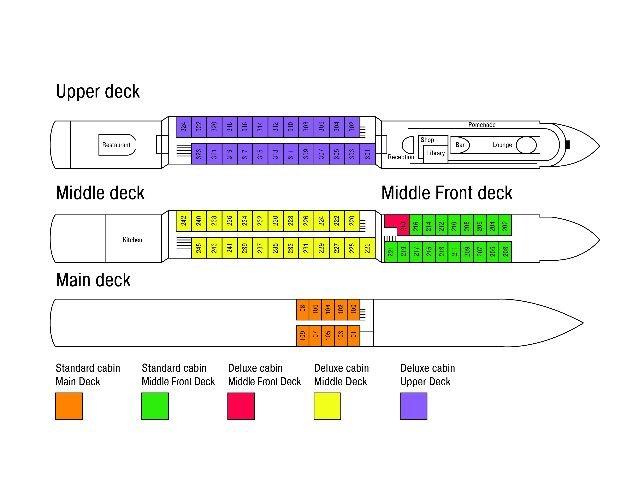 MS Crucestar **** - deckplan