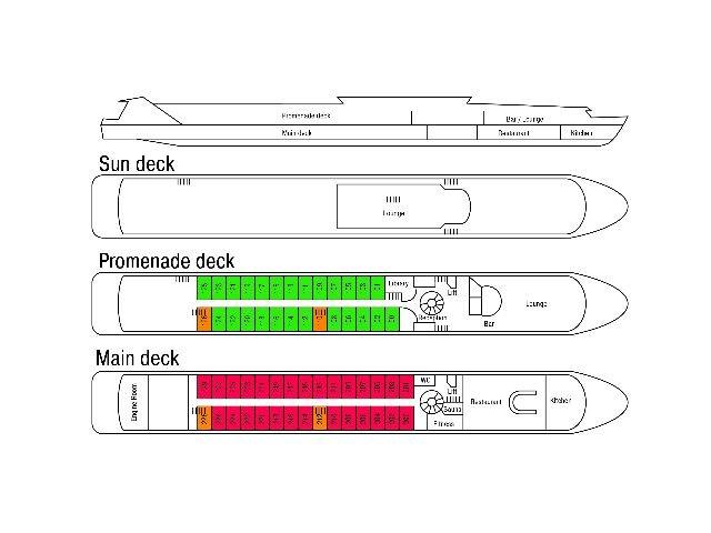 MS Crucevita ***** - deckplan