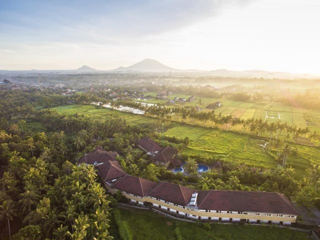 bhuwana ubud hotel - vooraanzicht