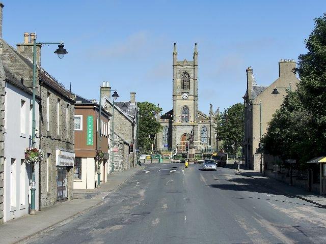 Schotland - Thurso - straatbeeld